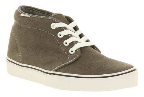 mens vans chukka boot pewter suede trainers shoes