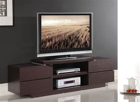 modern tv wenge finish modern tv stand w open shelves