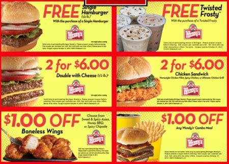 printable fast food coupons usa wendys fast food coupons printable coupons online