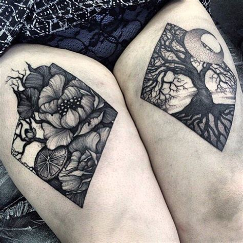woodland tattoo designs 76 best blackwork ideas images on