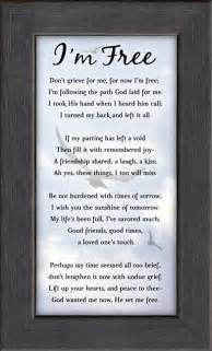 Bereavement Flowers - im free memorial poem