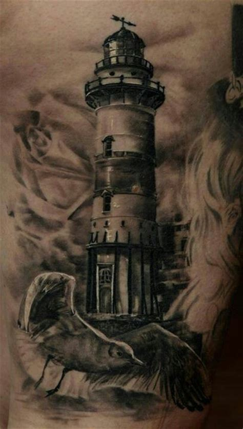 black and grey lighthouse tattoo nice black and grey tattoo black and grey pinterest