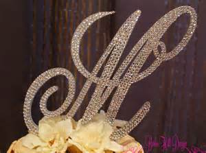m m cake toppers items similar to 6 quot monogram cake topper letter m on etsy