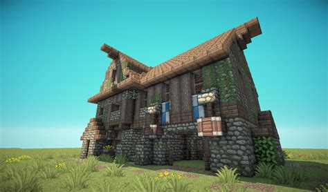 House Blueprints by Medieval Barn House Minecraft Project