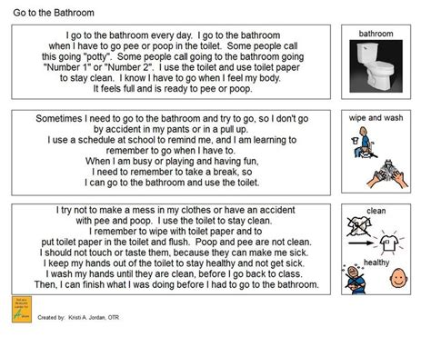 going to the bathroom social story 103 best visual supports images on pinterest autism