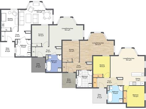 Room Planner Metric Free 2d Floor Plans Roomsketcher