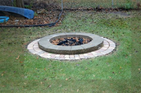 How To Build A Firepit With Pavers Simple Backyard Paver Pit The Home Decor Ideas
