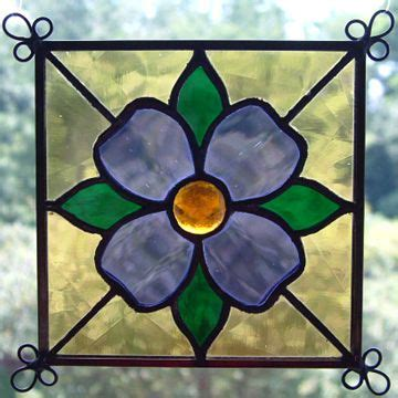 flower design in glass new set of 4 stained glass quilt pattern suncatcher 407
