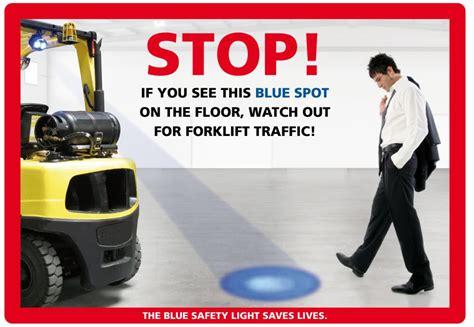 blue warning lights on forklifts blue spot sign blue forklift light sign 89325446