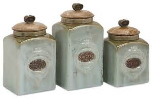 Canisters Kitchen Addison Ceramic Canisters Set Of 3 Traditional