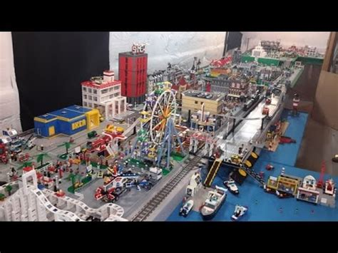 youtube lego layout lego city complete overview over 300 square foot layout