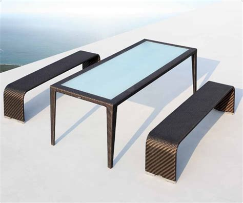 nova bench nova rattan bench seat contemporary outdoor bench
