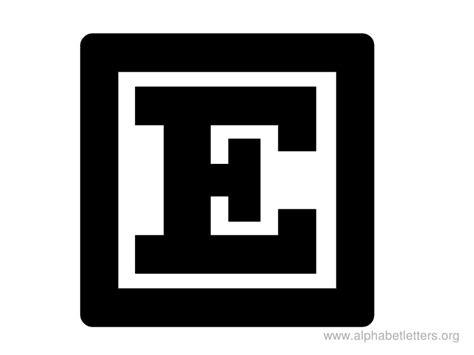 e block letter the letter e clipart best