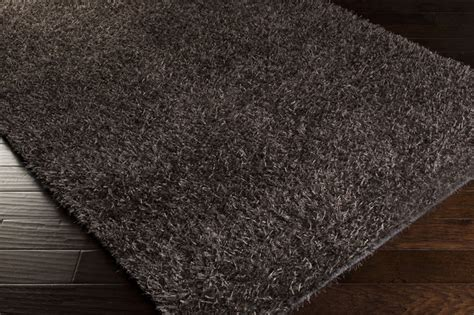 Gray Shag Rugs by Charcoal Gray Shag Taz Rug By Surya Rosenberryrooms