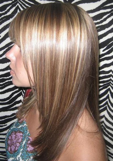 highlights with lowlights underneath dark blonde base with high lites and mocha lowlights with