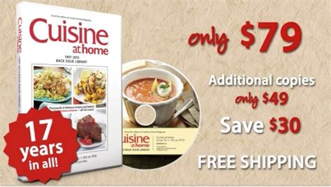 cuisine at home back issue library dvd