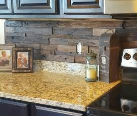 wood backsplash kitchen reclaimed tile rustic pallet not only protect the walls from staining but