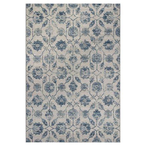 antique treasures rugs kas rugs vintage treasures ivory blue 5 ft 3 in x 7 ft 7 in area rug ref742553x77 the home