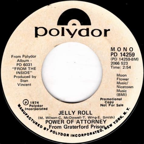 Power Of Attorney Records Power Of Attorney Jelly Roll Turn Around Promenade Records