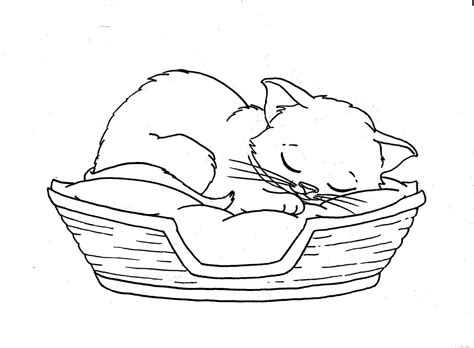 sleeping coloring page cats sleeping coloring picture for embroidery