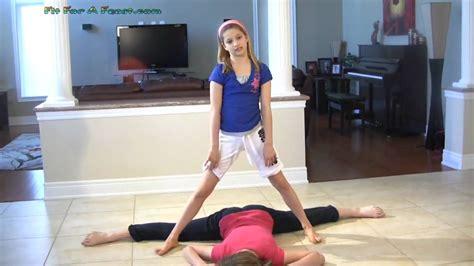 preteen models youtube how to do the splits 3 more advanced flexibility