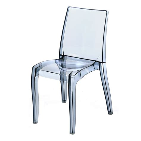 chaise polycarbonate transparente