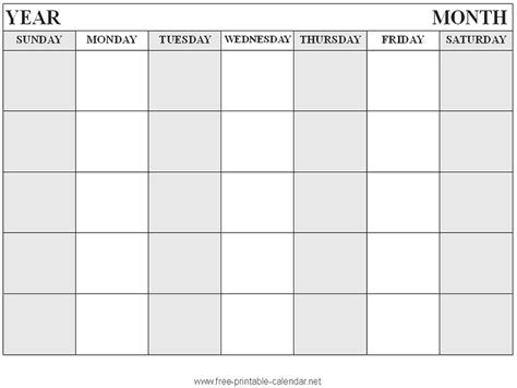 Calendar Template To Print use these all new blank calendars print blank calendars