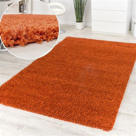 teppiche terracotta shaggy hochflor langflor teppich dunkel terrakotta