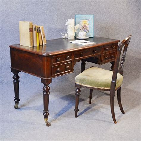 library study tables antique rosewood writing desk leather library