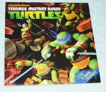 E Calendar Factory Free New Nickelodeon Mutant Turtles 2013