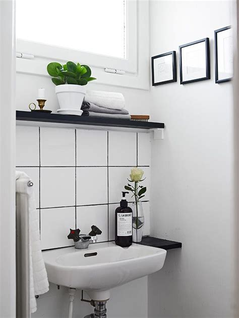 small bathroom ideas black and white 30 black and white bathroom tiles in a small bathroom