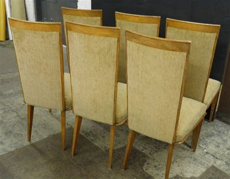 reupholstered dining chairs chic and fully reupholstered vintage ash dining chairs for