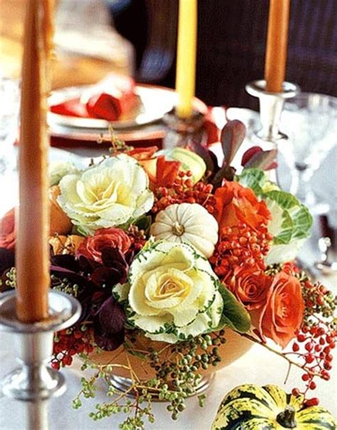 Thanksgiving Table Centerpieces 42 Amazing Flower Decorations For A Thanksgiving Table Digsdigs