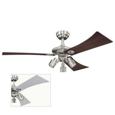 silver 3 blade ceiling fan audubon ceiling fan with silver and maple blades 78525 163