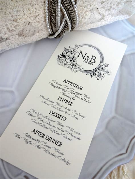 17 best images about wedding menu card on pinterest