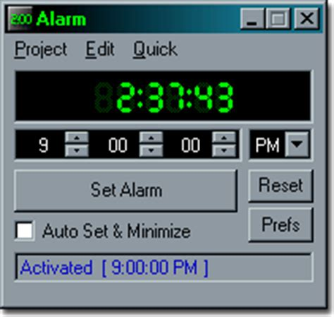 alarm free digital alarm clock for windows