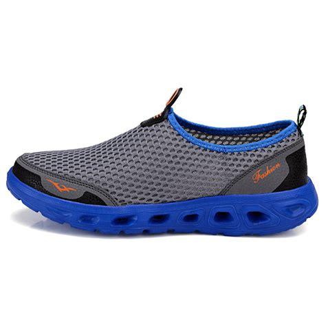 sepatu slip on sport pria size 42 blue jakartanotebook