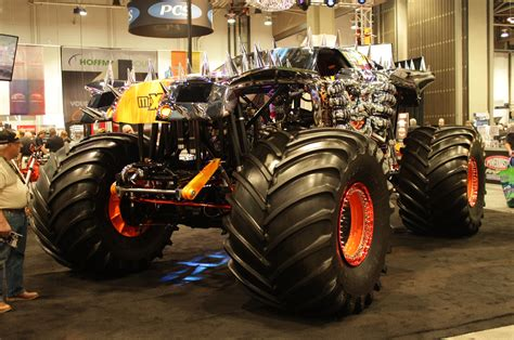 maximum destruction monster truck videos staff picks weirdest 2013 sema show cars motor trend wot