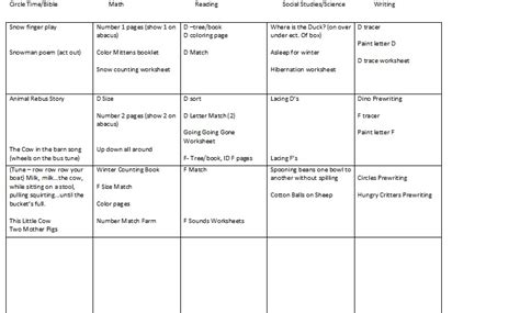 month lesson plan template search results calendar 2015
