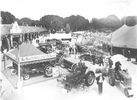 oregon state fair tractors and farm equipment on display