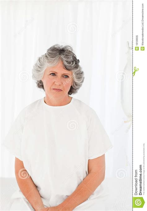 cancer woman in the bedroom sad woman in her bedroom royalty free stock photo image