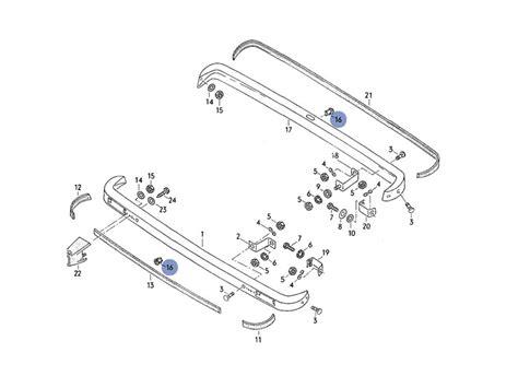 Rubber Bumper Fr Lt Isuzu Spare Part Original lt genuine vw bumper rubber molding fixing clip nos ebay