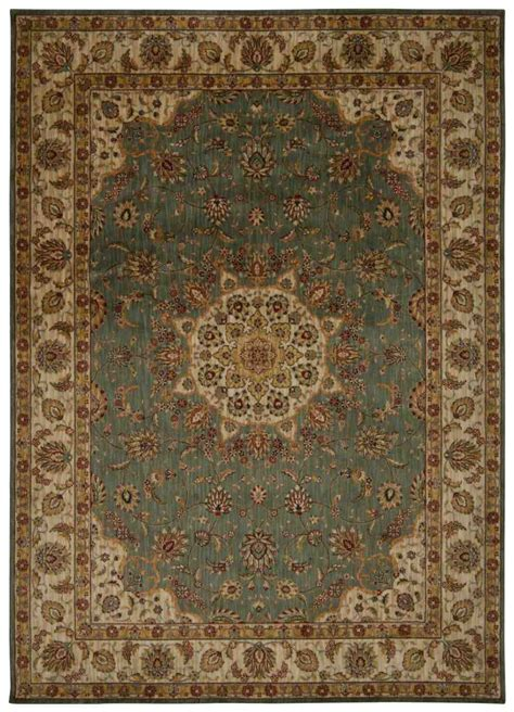 Kathy Ireland Area Rugs by Nourison Kathy Ireland Ancient Times Bab02 Teal Area Rug
