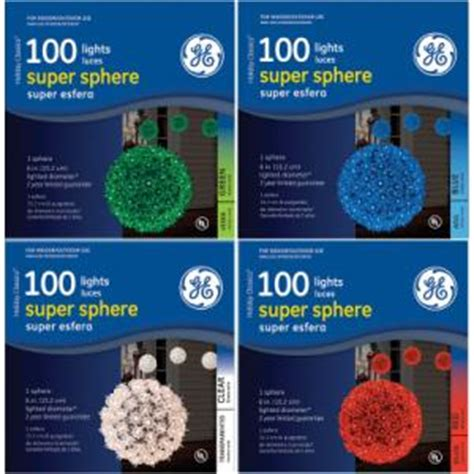 ge sphere lights ge 100 light sphere light assorted colors better