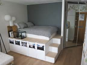 bett mit stauraum storage platform bed oh yes