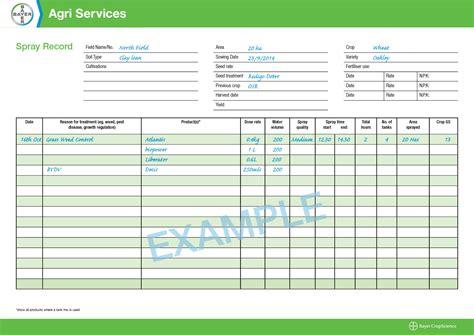 Record Uk Spray Record Sheets To