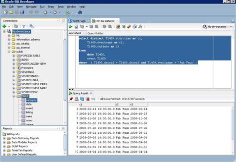 sql bench sql developer connecting to postgres redshift