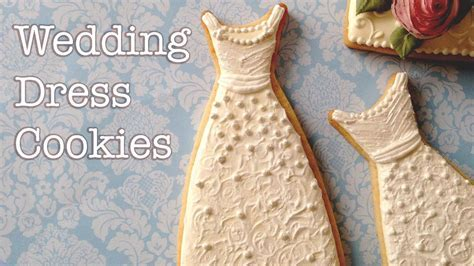 How To Decorate Wedding Dress Cookies!   YouTube