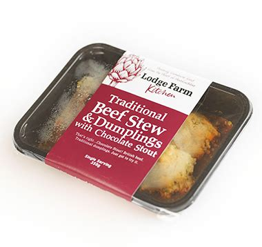 Lodge Farm Kitchen Stockists by Traditional Beef Stew Dumplings With Chocolate Stout