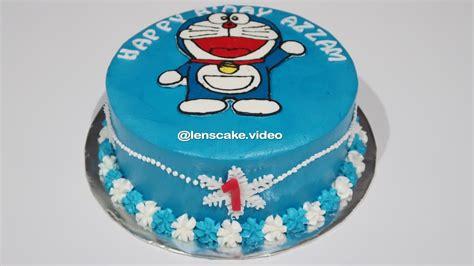 gemes membuat kue ulang tahun how to make birthday cake doraemon easy cara membuat kue